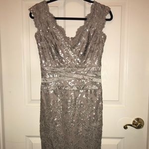 Taupe/gold sequin dress